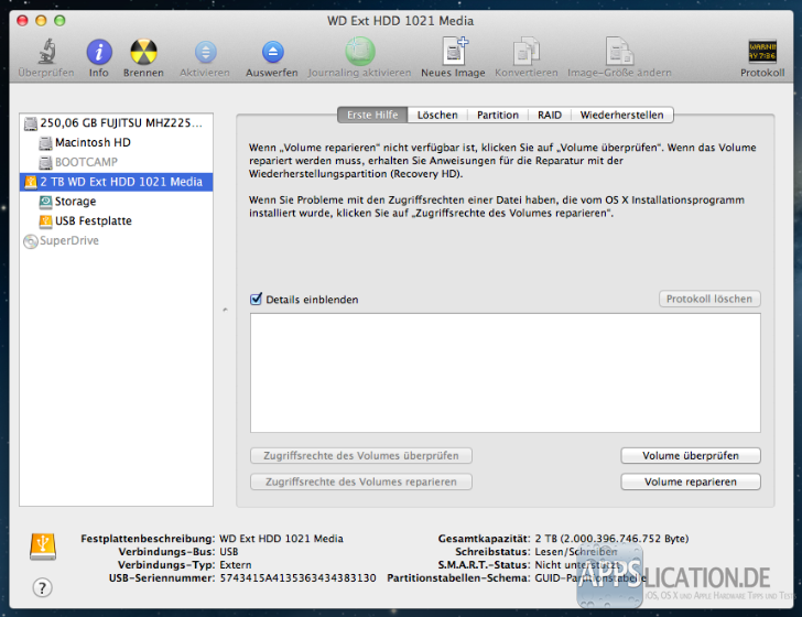 Mac: Festplatte partitionieren