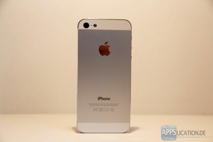 Rückansicht iPhone 5 in weiß