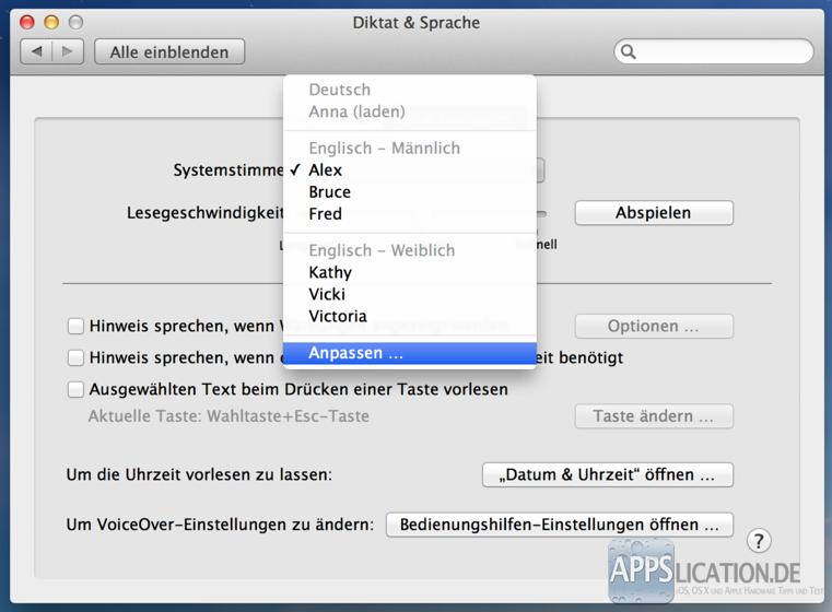 Mac Os X Deutsche Sprachausgabe Einrichten Und Verwenden