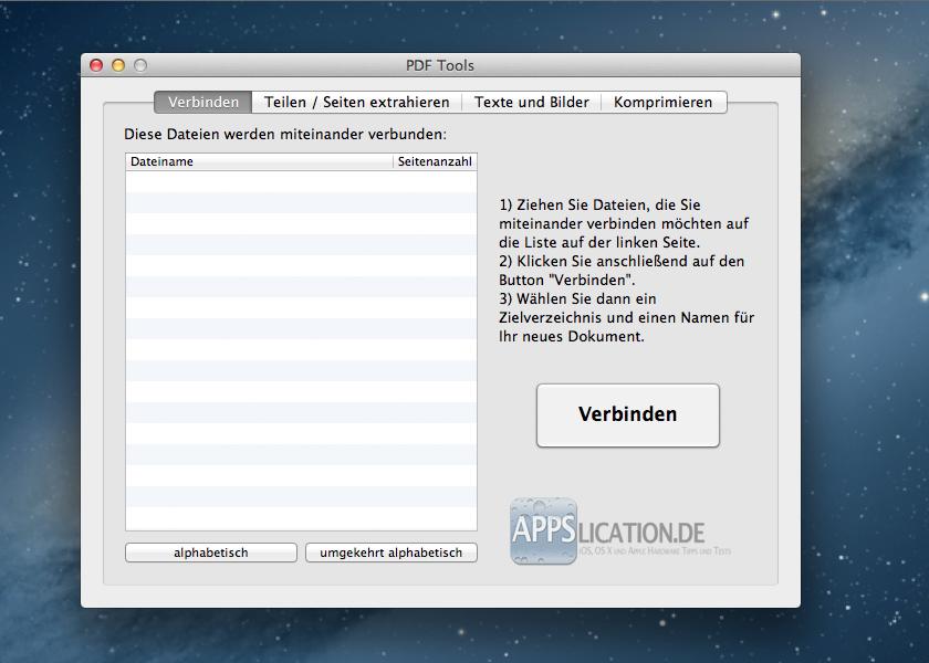 PDF Toolkit Verbinden