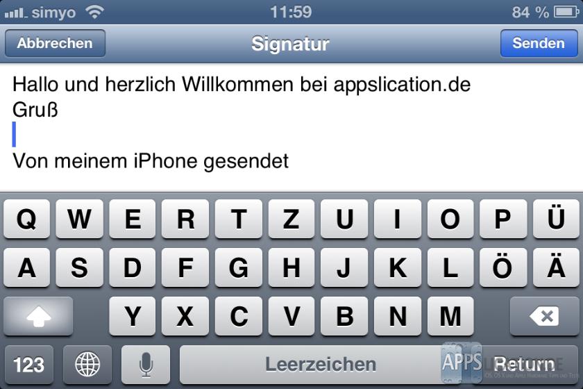 Signatur bei iPhone und iPad erstellen