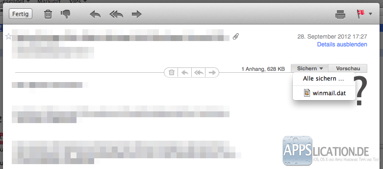 """OS X Mail und """"winmail.dat""""-Datei"""