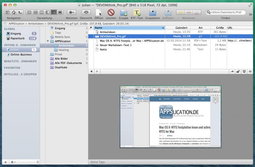 Dateien können direkt betrachtet werden. Die Software bietet verschiedene Darstellungsmöglichkeiten