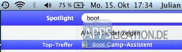 Boot Camp-Assistent starten