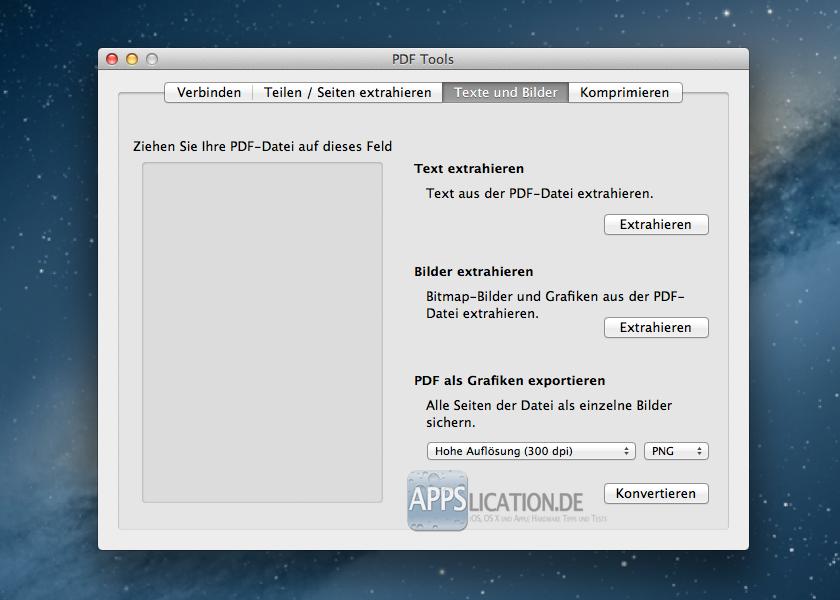 PDF Toolkit Texte und Bilder
