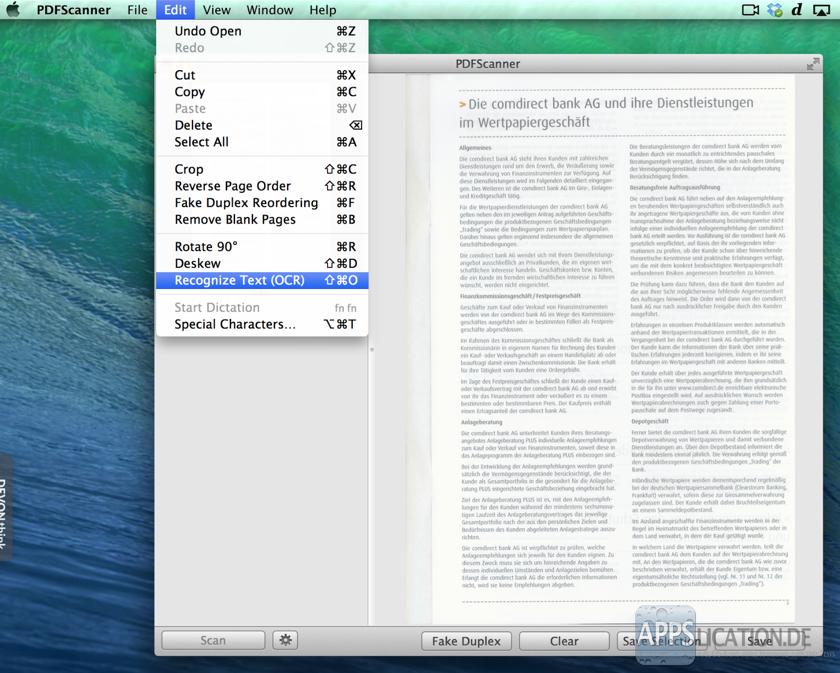 Pdf Texterkennung Mac