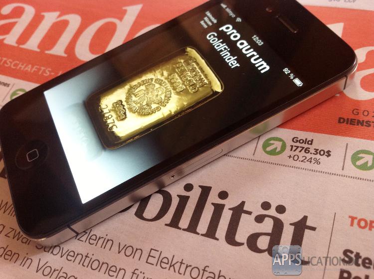 Goldwert und Silberwert auf dem iPhone nachschlagen