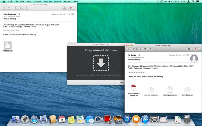 Winmail.dat Dateien auf dem Mac öffnen mit